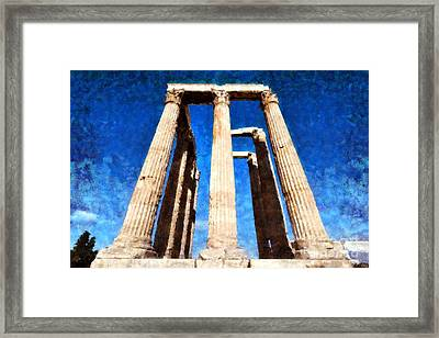 Temple Of Olympian Zeus  Framed Print by George Atsametakis