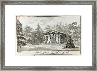 Temple Of Pan Framed Print