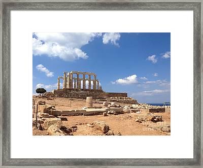 Temple Of Poseidon Framed Print