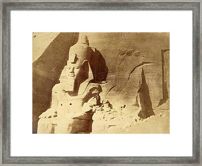 Temple Of Ramses II Framed Print by British Library