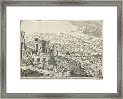 Temple Of Sibyl In Tivoli, Hendrik Frans Van Lint Framed Print