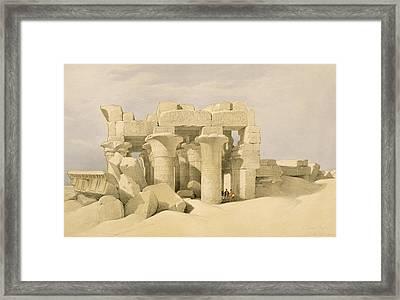 Temple Of Sobek And Haroeris At Kom Ombo Framed Print by David Roberts