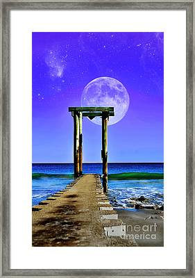 Temple Of The Atlantic Framed Print