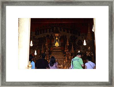 Temple Of The Emerald Buddha - Grand Palace In Bangkok Thailand - 011311 Framed Print by DC Photographer