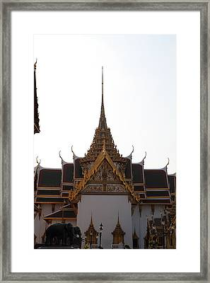 Temple Of The Emerald Buddha - Grand Palace In Bangkok Thailand - 011315 Framed Print