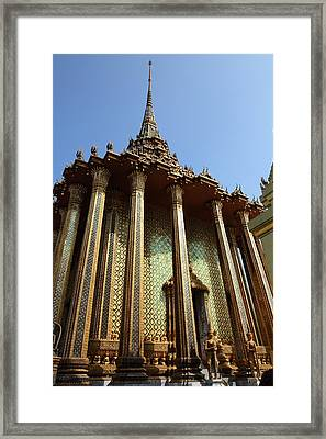 Temple Of The Emerald Buddha - Grand Palace In Bangkok Thailand - 01138 Framed Print