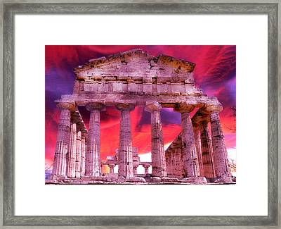 Temple Of The Gods Framed Print