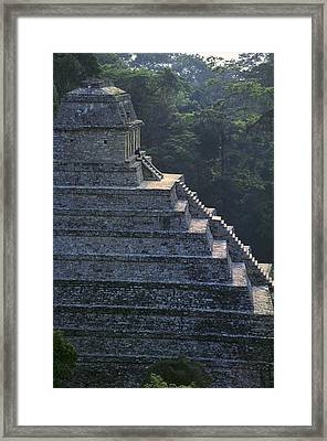 Temple Of The Inscriptions. Mexico Framed Print