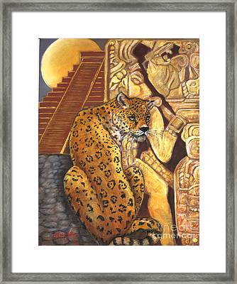 Temple Of The Jaguar Framed Print by Pamela Mccabe