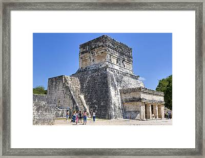 Temple Of The Jaguars At Chichen Itza Framed Print by Mark E Tisdale