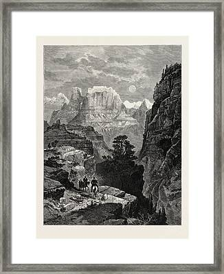 Temple Of The Virgin, Mu-koon-tu-weap Valley Framed Print