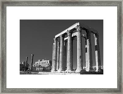 Temple Of Zeus Framed Print by Gabriela Insuratelu