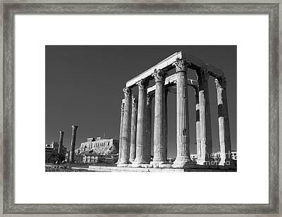 Temple Of Zeus Framed Print by Gabriela Insuratelu