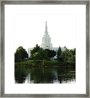 Temple On The River Framed Print by Image Takers Photography LLC - Carol Haddon