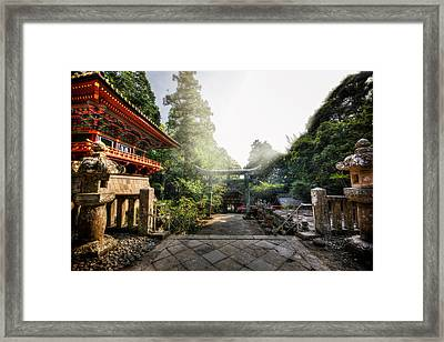 Temple Pathway Framed Print