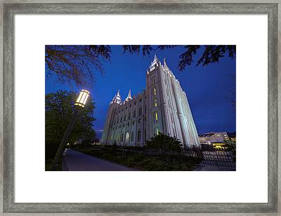 Temple Perspective Framed Print by Chad Dutson