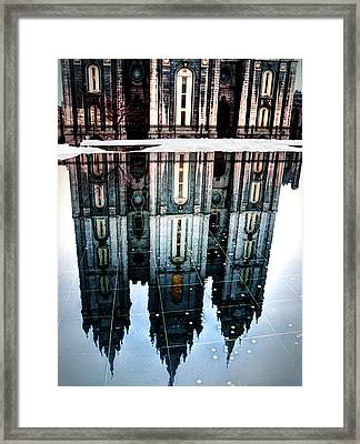 Framed Print featuring the photograph Temple Reflection by Jim Hill