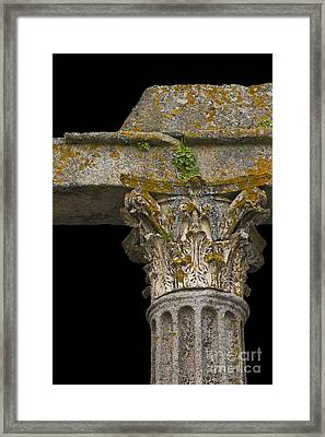 Temple Ruin Fragment Framed Print by Heiko Koehrer-Wagner