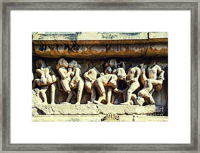 Temple Scenes Framed Print
