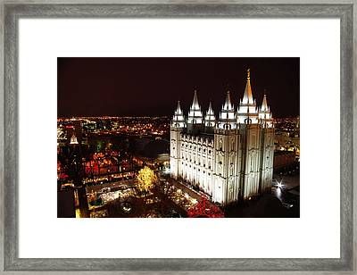 Temple Square Framed Print by David Andersen