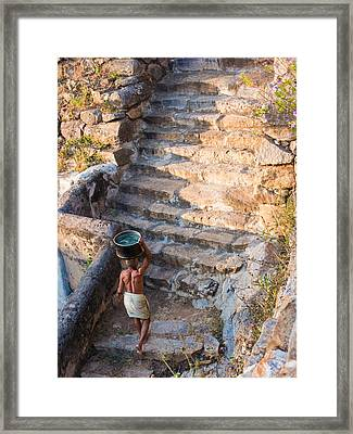 Temple Steps Framed Print