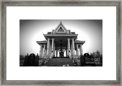 Temple Steps Framed Print by Thanh Tran