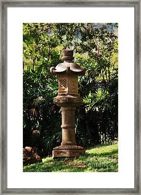 Temple Stone Lantern Framed Print