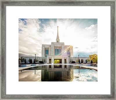 Temple Sunburst 5 X 4 Format Framed Print