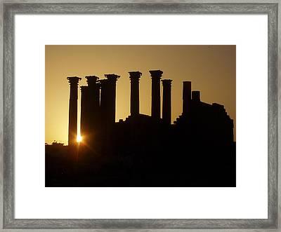 Temple Sunset Framed Print by James Tweedie