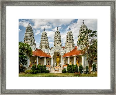 Temple Towers Framed Print