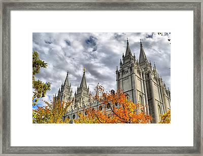 Temple Trees Framed Print