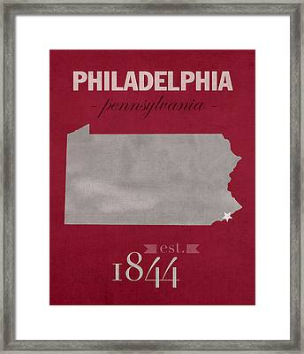 Temple University Owls Philadelphia Pennsylvania College Town State Map Poster Series No 103 Framed Print