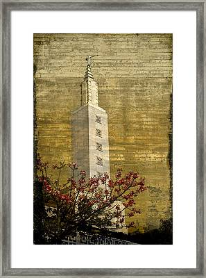 Temple With Red Framed Print