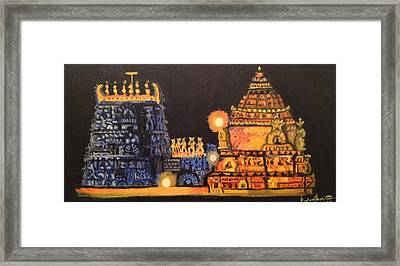 Templelights Framed Print by Brindha Naveen