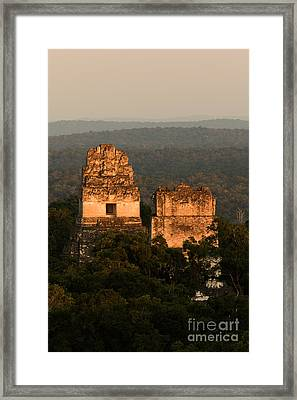 Temples 1 And 2 -  #3 Framed Print by Dan Hartford