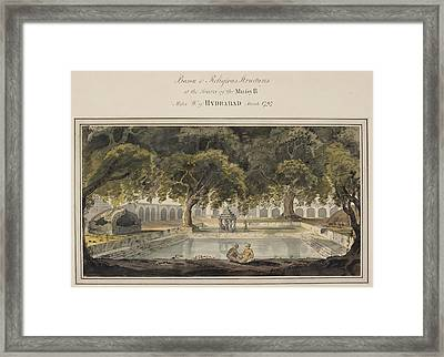 Temples At The Source Of The Musi River Framed Print by British Library