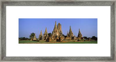 Temples In A Field, Wat Framed Print by Panoramic Images