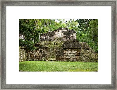 Temples In Tikal National Park (parque Framed Print by Michael Defreitas