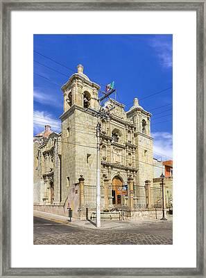 Templo De San Felipe Neri - Oaxaca Framed Print