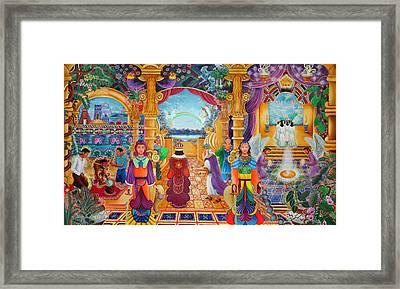 Templo Sacrosanto Framed Print by Pablo Amaringo