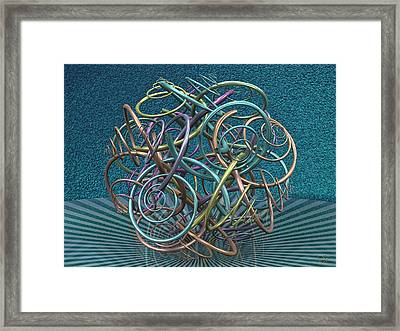 Temporal Displacement Framed Print by Manny Lorenzo