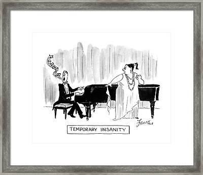 Temporary Insanity Framed Print by Edward Frascino