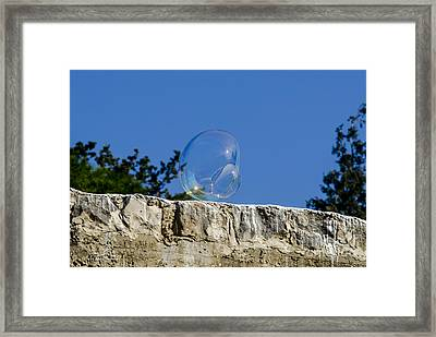 Temporary Local Bubble 03  03 Framed Print by Arik Baltinester