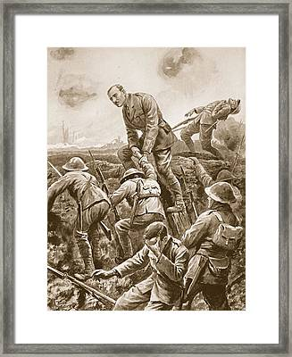 Temporary Major S.w. Loudoun-shand Framed Print by Alfred Pearse