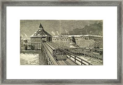 Temporary Railway Constructed Framed Print by Mary Evans Picture Library