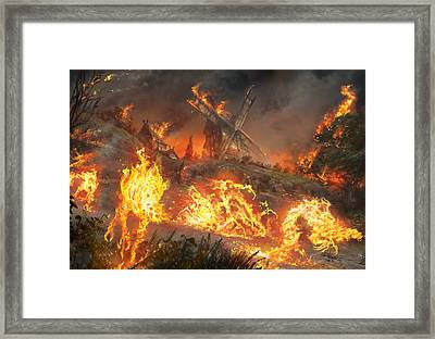 Tempt With Vengeance Framed Print by Ryan Barger