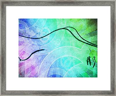 Temptation Curves Two Framed Print