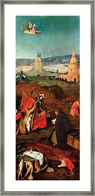 Temptation Of Saint Anthony - Right Wing Framed Print by Hieronymus Bosch