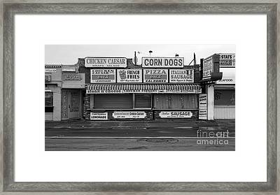 Temptations At Hampton Beach Framed Print by Edward Fielding