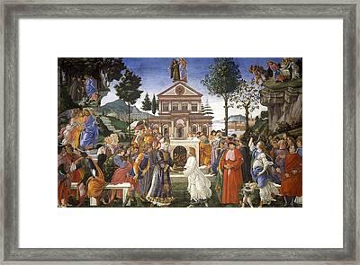 Temptations Of Christ Framed Print